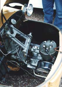 1951 MkA Bond Minicar engine view