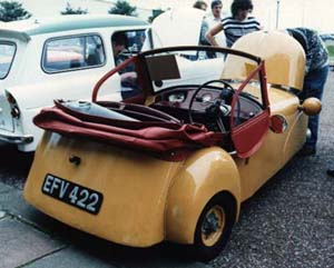 1951 MkA Bond Minicar rear view