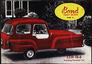 MkD Bond Family Saloon sales brochure
